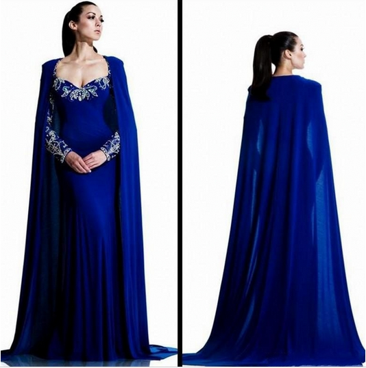 Evening Dress Dresses Memraid Long With Clock Royal Blue Crystal Women Wedding Party Formal
