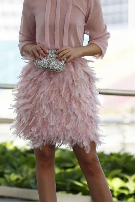 prom dress , short prom dress , pink prom dress , long sleeves prom dress , feather prom dress , chiffon prom dress , formal dress for prom , prom gown , prom dress for girls ,
