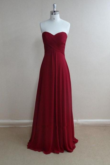 Simple And Pretty Burgundy Prom Dresses 2016, High Quality Prom Gown 2016, Bridesmaid Dresses, Evening Dresses, Formal Dresses